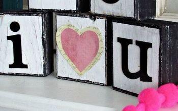 I Love You Wooden Blocks