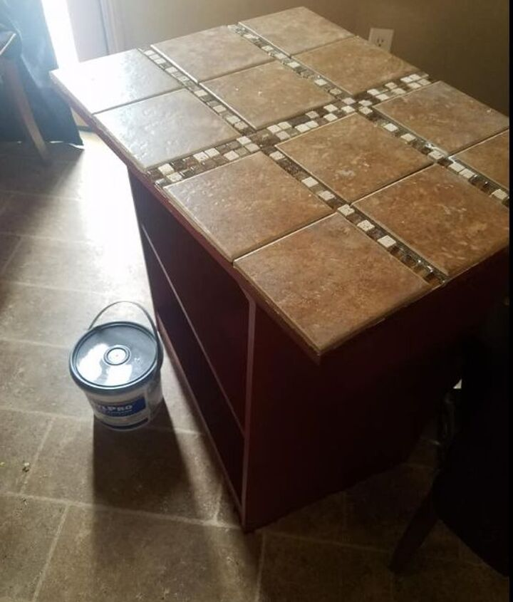 cheap microwave stand becomes kitchen island