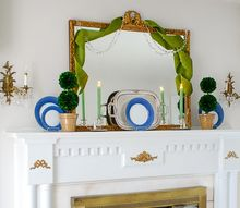 boxwood topiary decor for a traditional mantel how to