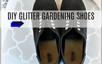 DIY Glitter Gardening Shoes