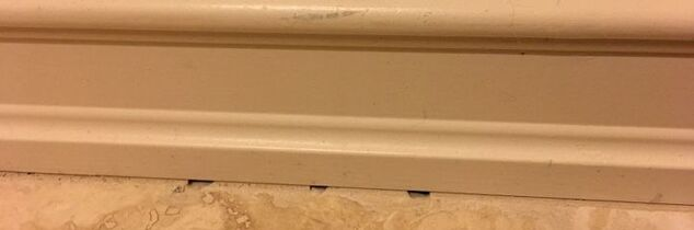 q should you use caulk where grout is missing b tween floor a baseboard