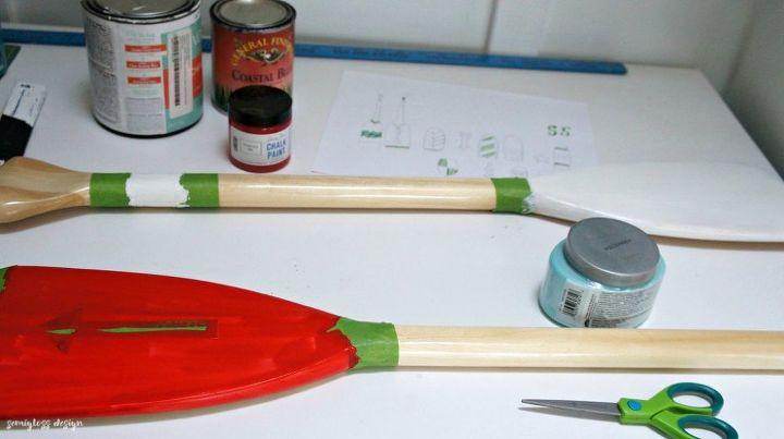 nautical wall art painted oars