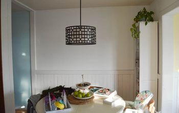 diy barn board dining room wall
