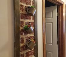 faux brick wall art