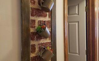 faux brick wall art