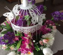 how to decorate a bird cage with artificial flowers