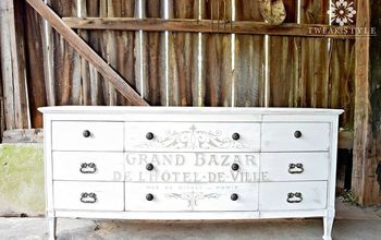 painted french dresser tutorial