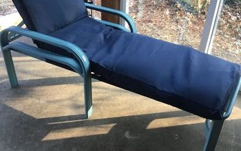 Recovering a Patio Lounge Cushion