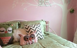 owl inspired theme toddler bedroom, Owl theme toddler room finished