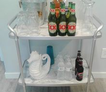 cheap easy and beautiful bar cart makeover