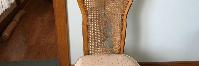 q can the cane on the back of this chair be repaired