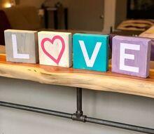 how to make wood love blocks