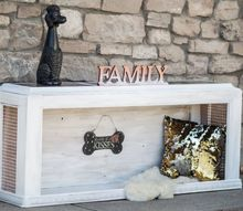 create an amazing upscale dogbed out of a thrift store table