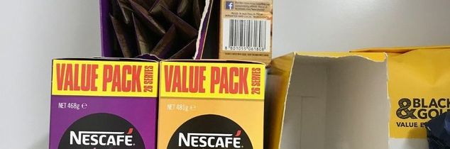 q help how can i store my coffee sachets in my pantry