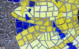 q repair a stained glass mosaic patio table