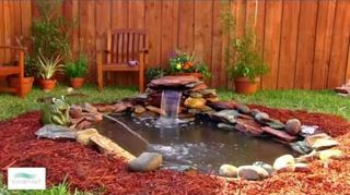 q how do i add a waterfall to my garden pond