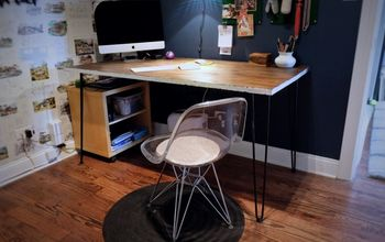 Re-Stain a Desk + Add Silver Leaf
