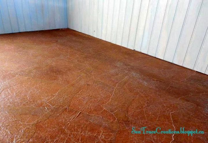 frugal faux floors brown paper treatment
