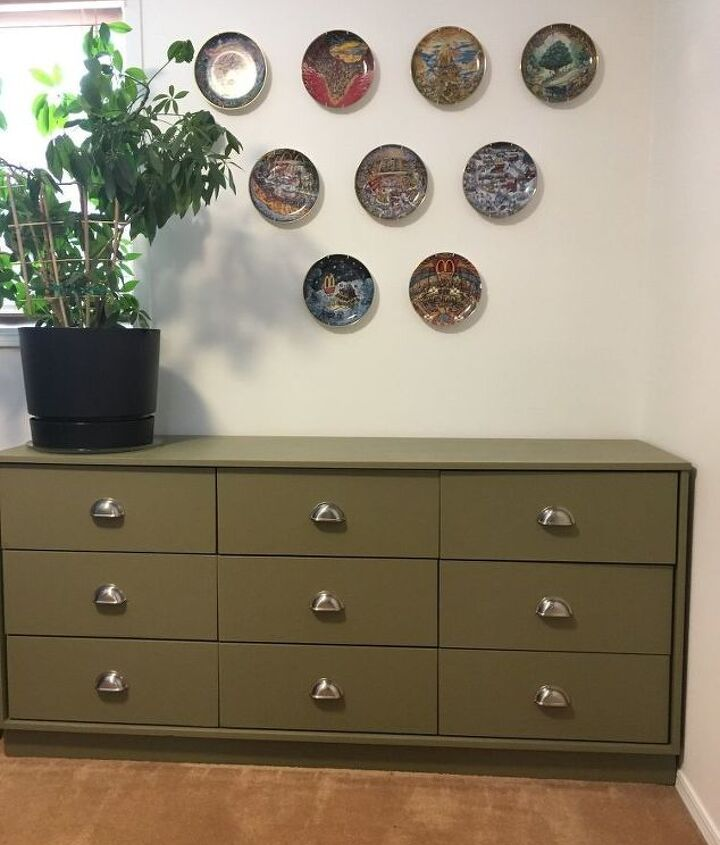 green is the new orange dresser makeover