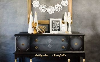 how to apply gold leaf to your furniture