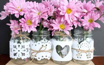 Wedding Mason Jars: A Project Using Cut Felt