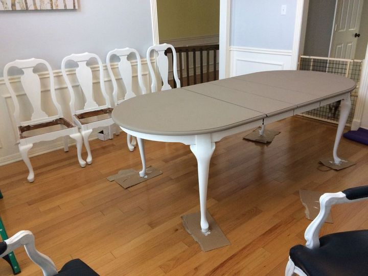 dining table makeover with annie sloan chalk paint