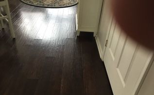 q how can i fix lifted cross sections on hardwood floor