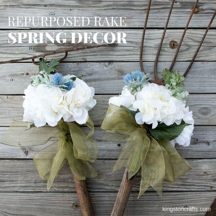 repurposed rake spring decor video