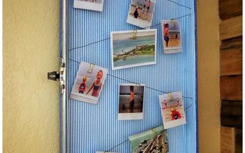old suitcase turned photo display, Turn vintage suitcase into photo display