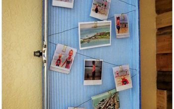 Old Suitcase Turned Photo Display