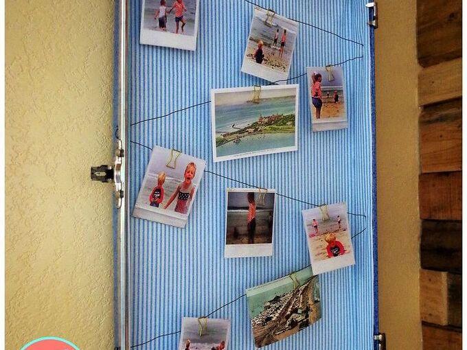 old suitcase turned photo display, Turn vintage suitcase into photo display