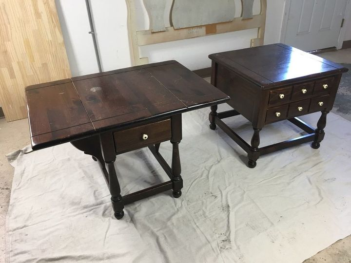 two end tables one storage cabinet