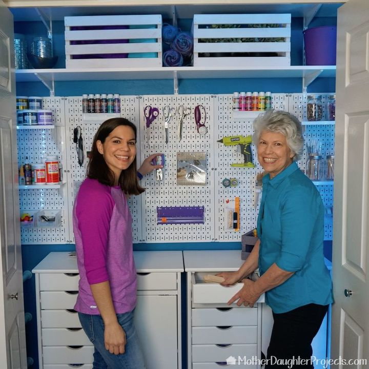 the ultimate craft closet makeover