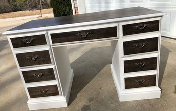 Broyhill Desk, From Garage to Center Stage!