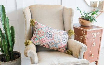 make a kilim rug pillow from a 5 placemat