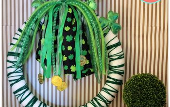 Dollar Store Headbands Turned St. Patrick's Day Wreath