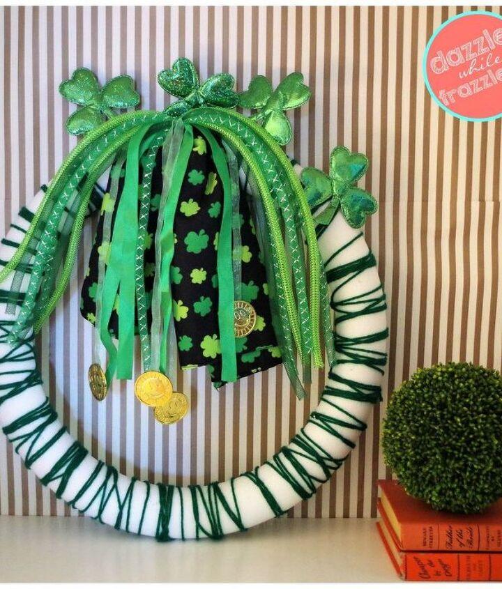 Headbands turned St. Patrick's Day wreath