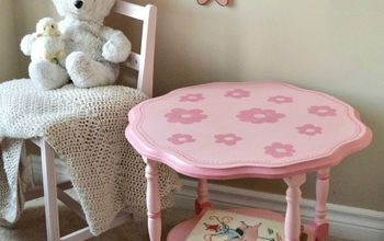 Adorable Hand Painted Children's Flower Table