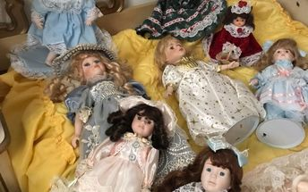 q how to tell if these ceramic dolls are worth and how to store them
