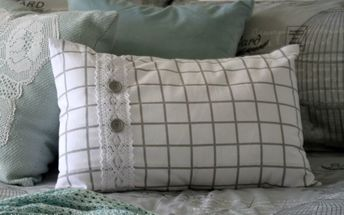 the grid diy tea towel cushion