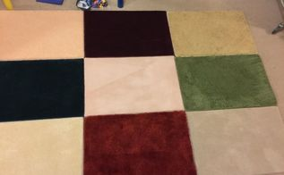make an area rug with samplers