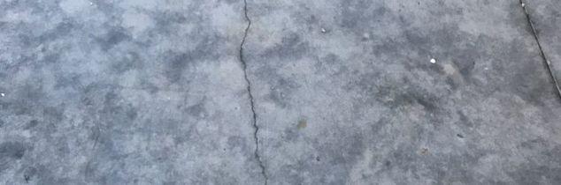 q crack in concrete floor