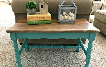Easy DIY to Strip Paint and Fixer Upper Teal Paint