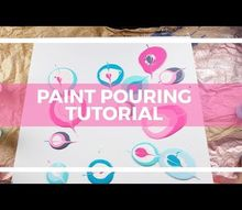 super easy paint pouring on canvas