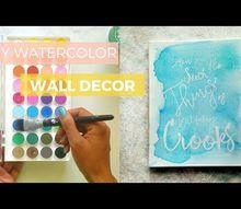 diy watercolor wall decor