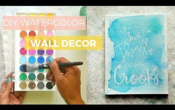 DIY Watercolor Wall Decor