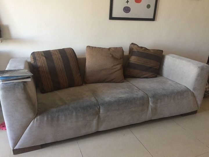 old gross couch gets a royal purple makeover hometalk. Black Bedroom Furniture Sets. Home Design Ideas