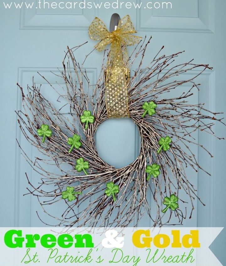 easy st patrick s day wreath