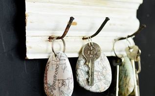 personalized rock map key chain