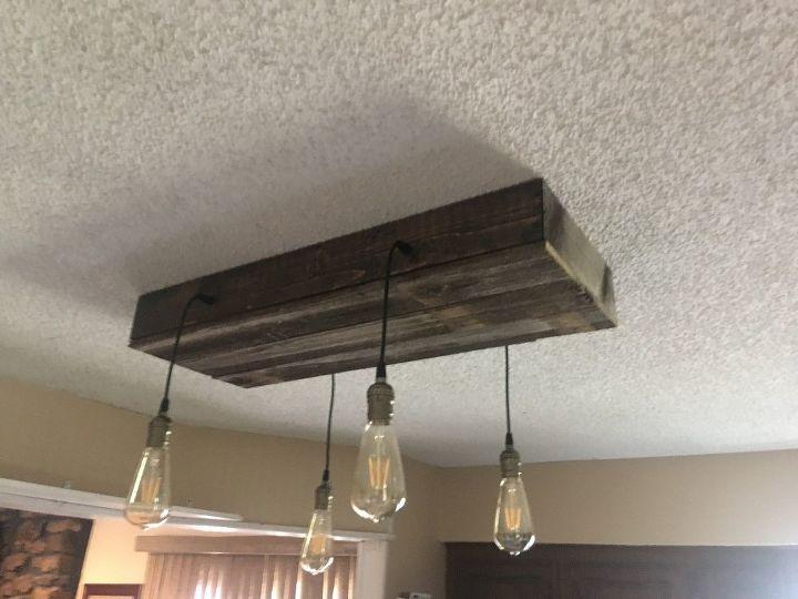 rustic kitchen light fixture
